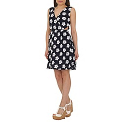 Cutie - Navy ditsy daisy print dress