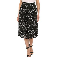 Cutie - Black pleated knee length skirt