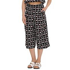 Cutie - Black printed culottes