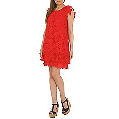 Jolie Moi - Red crochet lace dress