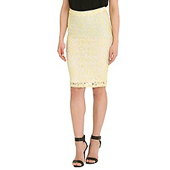Madam Rage - Yellow lace midi skirt