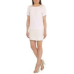 Madam Rage - White metallic trim shift dress