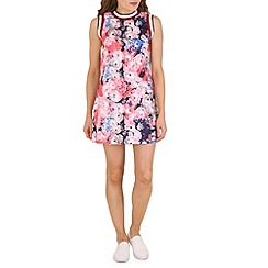 Madam Rage - Pink floral vest dress