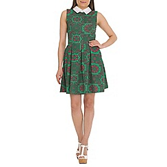 Mela - Multi-coloured printed collar dress
