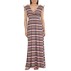 Amaya - Red tribal print maxi dress