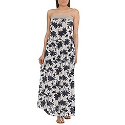 Amaya - Navy printed maxi with lace band