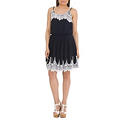 Jumpo London - Navy chiffon lace dress