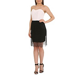 Jumpo London - White top with frill and skirt