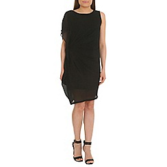 Jumpo London - Black drape side party dress