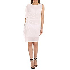 Jumpo London - White drape side party dress