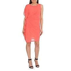 Jumpo London - Peach drape side party dress