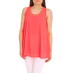 Jumpo London - Peach chiffon top with bow back