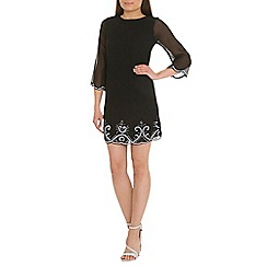 Alice & You - Black embellished tunic dress