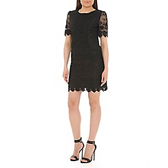 Pussycat London - Black crochet shift dress