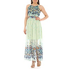Pussycat London - Green floral print maxi dress