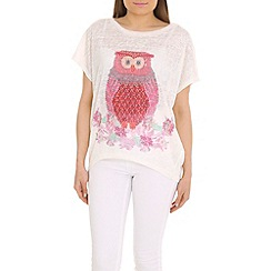 Voulez Vous - Pink twit two oversized tee