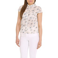 Cutie - White floral loose fit top