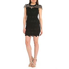 Jumpo London - Black lace diamond dress