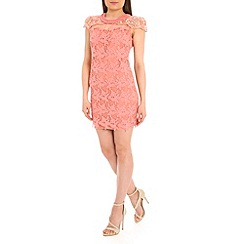 Jumpo London - Pink lace diamond dress