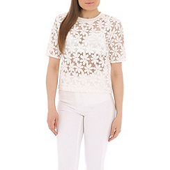 AS by Anna Smith - White embroidered organza top