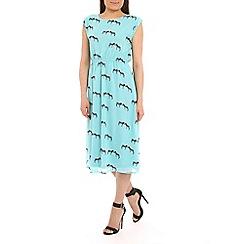 Sugarhill Boutique - Green zebra print midi dress