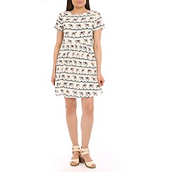 Sugarhill Boutique - Multicoloured festival bunting print smock dress