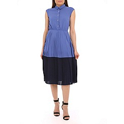 Sugarhill Boutique - Blue penelope colour block pleated dress