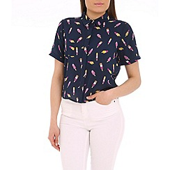 Sugarhill Boutique - Navy lolly print blouse