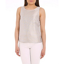 Sugarhill Boutique - Blue rita jacquard shell top