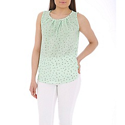 Tenki - Green flower print top
