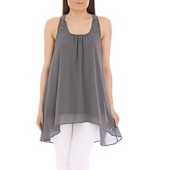 Tenki - Grey bow insert top
