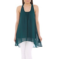 Tenki - Turquoise bow insert top