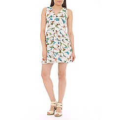 Tenki - White bird print dress