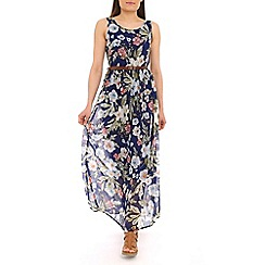 Alice & You - Navy belted maxi dress