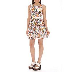 Mela - White bird print dress