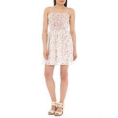 Mela - Cream floral  strap dress