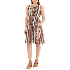 Mela - Multicoloured aztec print dress