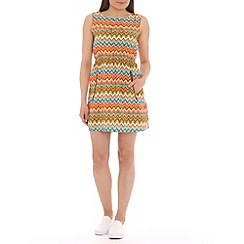 Mela - Multicoloured zig zag pocket dress