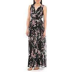 Mela - Black  floral maxi dress