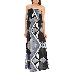 Madam Rage - Multicoloured frill maxi  dress