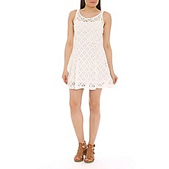 Voulez Vous - Ivory diamond lace swing dress