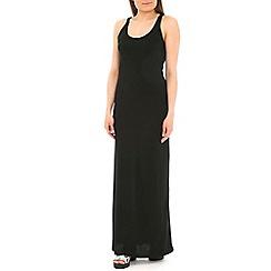 Voulez Vous - Black racer back maxi dress