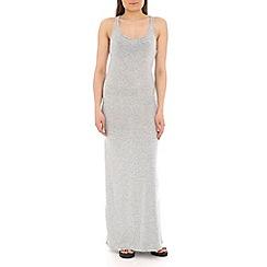 Voulez Vous - Grey racer back maxi dress