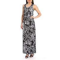 Voulez Vous - Multicoloured palm leaf maxi dress