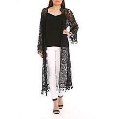 Amaya - Black lace cardigan