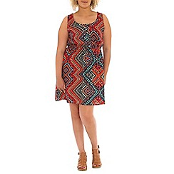 Samya - Multicoloured sleeveless aztec print multi dress