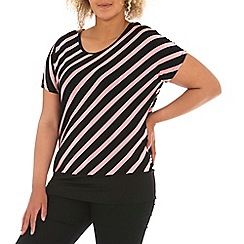 Samya - Pink samya diagonal striped top