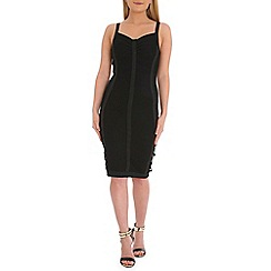 Jumpo London - Black printed bandage dress