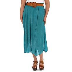 Samya - Green polyester plain elastic waistband