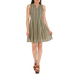 Cutie - Green chevron print dress